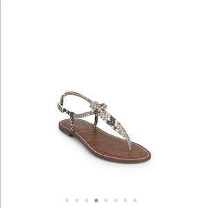 04fd6cf296674d Sam Edelman Shoes - Sam Edelman Gigi Thong Snake Sandals 8.5 NWB